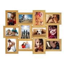 Мультирамка Золото 12 на 12 фото Руноко 60x50 см