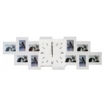 Мультирамка с часами RT Long Silver на 10 фото 36x80 см