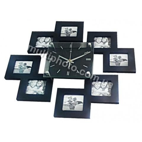 Мультирамка с часами Runoko Instagram-1 на 8 фото 45x45 см