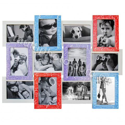 Мультирамка Цветная радость на 12 фото Руноко 60x50см
