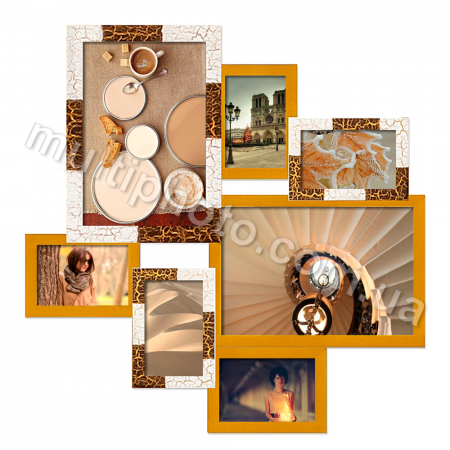Мультирамка Волна Клеопатра на 7 фото Руноко 62x62 см