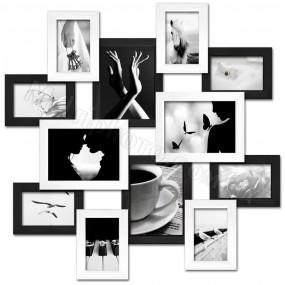 Мультирамка МЕГА Путешествие Белое и Черное на 12 фото 100x100 см