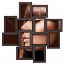 Мультирамка деревянная Руноко Палермо венге на 12 фото