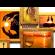 Деревянная рамка для фото двойное золото  на 25 фото Руноко 85x70 см