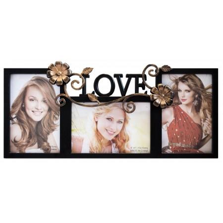 Мультирамка Love на 3 фото Руноко 40x20 см