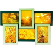 Мультирамка Зеленая 6 на 6 фото Руноко 50x33см