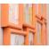 Мультирамка Тампа на 8 фотографий Оранжевая 62x38 см со Стеклом