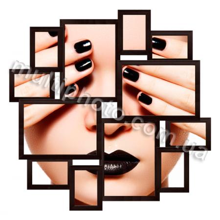 Мультирамка Флинт на 12 фотографий черная со Стеклом