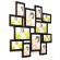 Мультирамка Фонтана на 12 фотографий Черная со Стеклом
