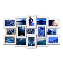 Мультирамка Ванкувер белая на 15 фотографий 10х15 со Стеклом