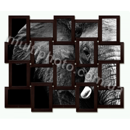 Мультирамка Конкорд черная на 20 фотографий со Стеклом