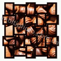 Мультирамка Конкорд черная на 25 фотографий со Стеклом
