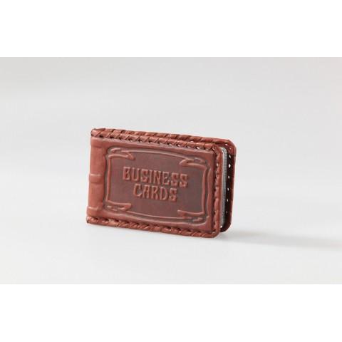 Большая кожанная визитница Business cards Макей 504-07-01