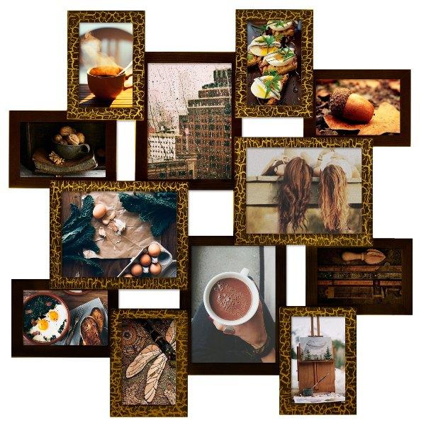 мультирамки Путешествие шоколад в интерьере шале