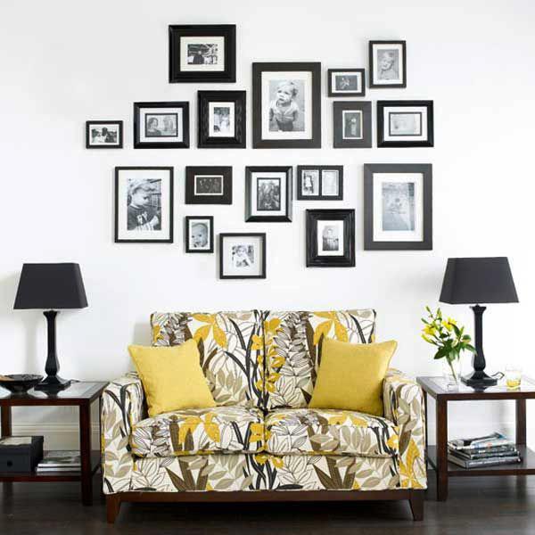 Чем украсить стену над диваном своими руками